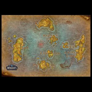 Poster World of Warcraft Mapamundi
