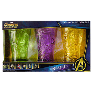 Set de Vasos Marvel: Hulk, Thor y Groot