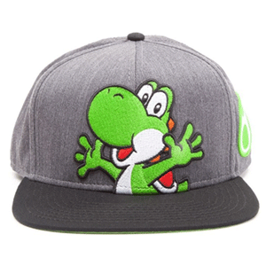 Gorra Nintendo - Super Mario Grey Snapback With Yoshi And Egg