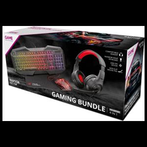 Trust GXT Raptor Teclado+Ratón+Alfombrilla+Auriculares LED Multicolor - Pack Gaming