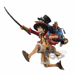 Figura Banpresto One Piece Three Brothers: Monkey D. Luffy