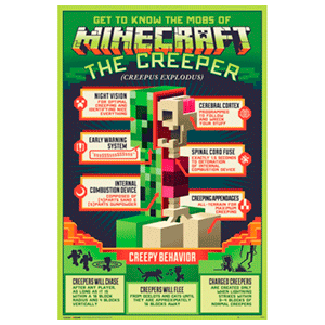 Poster Minecraft The Creeper