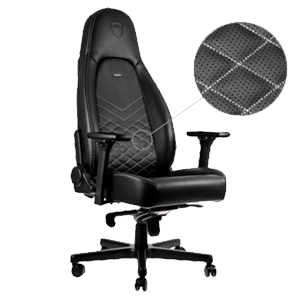 noblechairs ICON Negro-Plateado - Silla Gaming