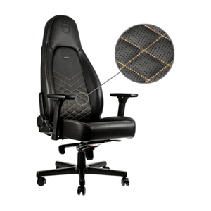 noblechairs ICON Negro-Dorado - Silla Gaming