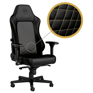 noblechairs HERO Negro-Dorado - Silla Gaming