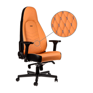 noblechairs ICON Real Leather Ocre-Negro - Silla Gaming