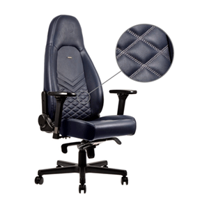 noblechairs ICON Real Leather Azul noche-Antracita - Silla Gaming