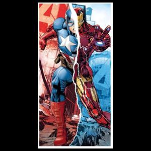 Toalla Vengadores Marvel Capitan America Iron Man (REACONDICIONADO)