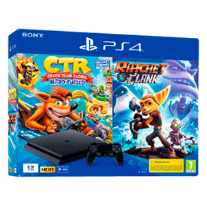 PlayStation 4 1Tb + Crash Team Racing + Ratchet & Clank