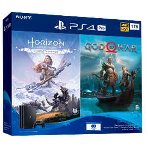 Playstation 4 Pro 1Tb + God of War + Horizon Zero Dawn