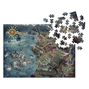 Puzzle The Witcher Wild Hunt: Deluxe World Map