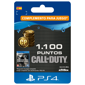 1100 Call of Duty Modern Warfare Points PS4