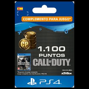 1100 Call of Duty Modern Warfare Points PS4