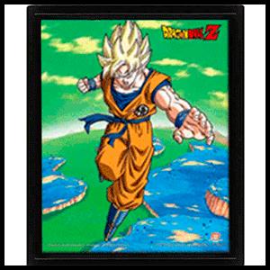 Cuadro 3D Dragon Ball: Goku Super Saiyan