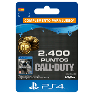 2400 Call of Duty Modern Warfare Points PS4