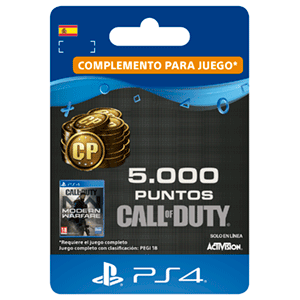 5000 Call of Duty Modern Warfare Points PS4