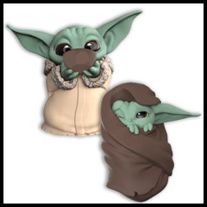 Pack Figuras The Mandalorian 6cm: Soup & Blanket