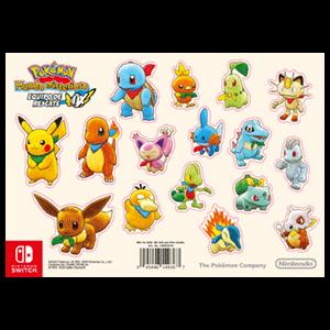 Pokémon Mundo Misterioso: Equipo de Rescate DX - Set pegatinas