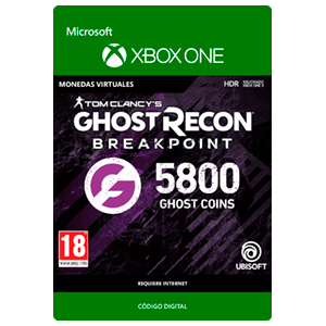 Ghost Recon Breakpoint - 4800 + 1000 Ghost Coins XONE