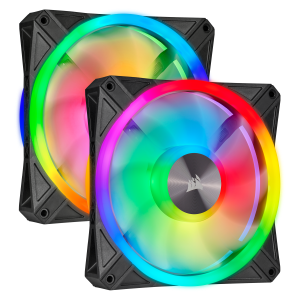 CORSAIR ICUE QL140 RGB Pack 2 con Ligthing Node Core - Ventilador 140mm