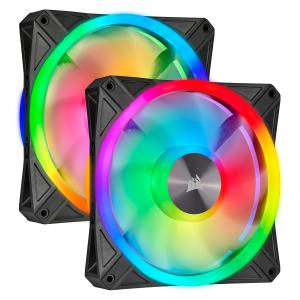 CORSAIR ICUE QL140 RGB Pack 2 con Ligthing Node Core - Ventilador 140mm