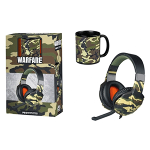 Auriculares Indeca Warfare + Taza