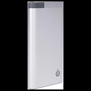Batería Portátil Plateada 10000 Mah con Cable USB/Micro USB + Micro USB C