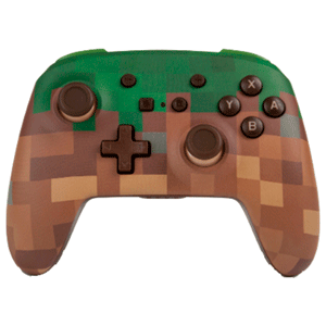Controller Bluetooth PowerA  Minecraft Grass -Licencia oficial-