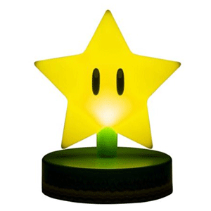 Lámpara Super Mario: Super Estrella