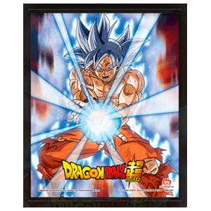 Cuadro 3D Dragon Ball Super: Ultra Instinct Kamehameha