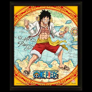Cuadro 3D One Piece 4 Gear Flip
