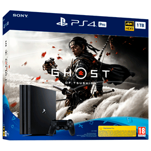 Playstation 4 Pro 1Tb + Ghost of Tsushima