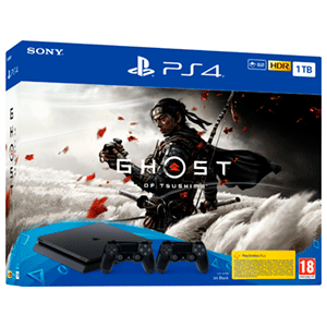 Playstation 4 1Tb + Ghost of Tsushima + 2 Controller Sony Dualshock 4 V2