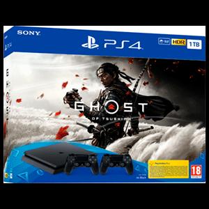 Playstation 4 1Tb + Ghost of Tsushima + 2 Controller Sony Dualshock 4 V2