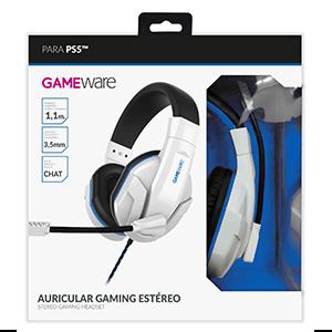 Auriculares Gaming Estéreo GAMEware Blancos