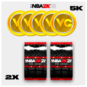 NBA 2K21 - DLC 5.000 VC Point + 2 Pack Mi EQUIPO XONE