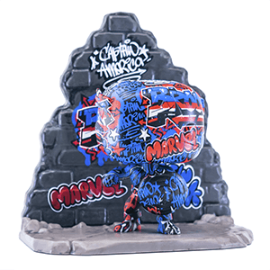 Figura Pop Marvel: Capitán América Graffiti Deco