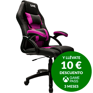 GAME Racing GT100 Rosa-Negro - Silla Gaming