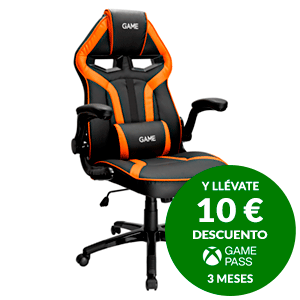 GAME Racing GT210 Naranja-Negro -  Silla Gaming