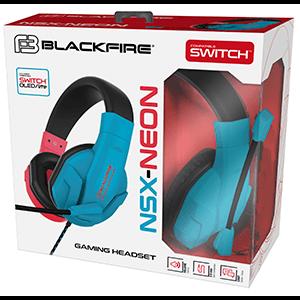 Auriculares Ardistel Blackfire NSX-10 Neón para Nintendo Switch