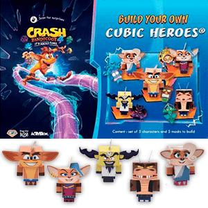 Crash Bandicoot 4: It´s about time Láminas para Montaje de Figuras
