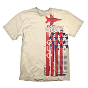 Camiseta Call of Duty Cold War: Top Secret Crema Talla S
