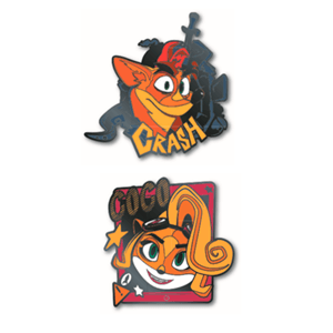 Set de Pins Crash Bandicoot Pin Kings 1.1