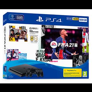 Playstation 4 Slim 500GB + FIFA 21 + FUT+ 2 Controller Sony Dualshock 4 V2
