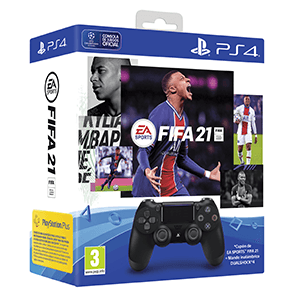 Controller Sony Dualshock 4 V2 + FIFA 21 + FUT