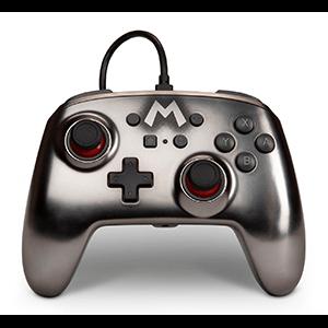 Controller con Cable PowerA Mario Metallic -Licencia oficial-