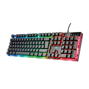 Trust GXT 835 Azor Multicolor - Teclado Gaming