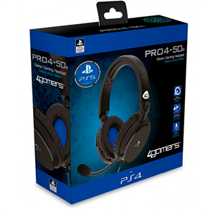 Auriculares 4Gamers Pro 4-50S Negros -Licencia oficial-