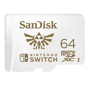 Memoria Sandisk 64Gb microSDXC Zelda -Licencia oficial- (REACONDICIONADO)