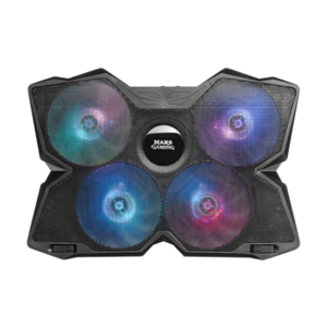 "Mars Gaming MNBC3 - 17"" - 4 Ventiladores - RGB - HUB USB - Base Refrigeradora Gaming"